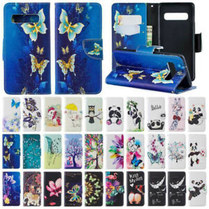 Pattern Flip Leather Stand Wallet Case Cover For Samsung Galaxy S10 Plus S10e