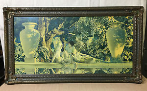 EARLY MAXFIELD PARRISH quot;GARDEN OF ALLAHquot; PRINT IN BEAUTIFUL FRAME $250.00