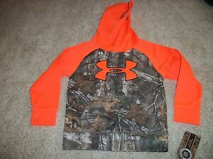 UNDER ARMOUR New NWT Boys Kids Camo Camouflage Realtree Jacket Hoodie Coat 5 6