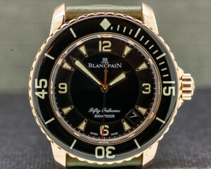 Blancpain 5015-3630-52 Fifty Fathoms 18K Rose Gold  Kevlar BOX AND PAPERS