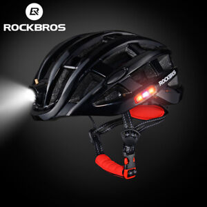 ROCKBROS Bicycle Ultralight Helmet with Light USB Rechargeable Size 57-62cm