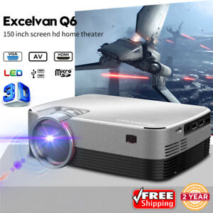 NEW 5000 Lumen 3D FHD 1080P Multimedia Video LED Projector Home Theater HDMI VGA