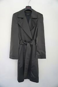 ESCADA Evening Long Dinner Trench STUNNING Designer Coat Charcoal Gray 36