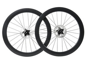 Disc brake Carbon Wheelset Clincher Tubeless Road Bike 700C Floating Rotor 55mm $375.00