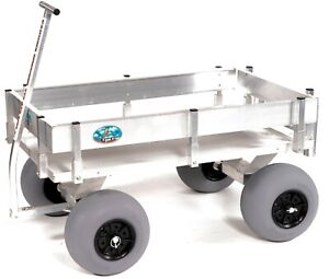 Big Kahuna Beach Wagon-Aluminum-Walls-No Rust-Balloon Tires-Rod Holders-Made USA