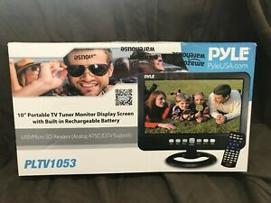 "Pyle 10"" Portable TV Tuner Monitor Display Screen Built-in Rechargeable Battery"