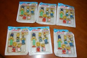 Wilton The Simpsons Birthday Candles 6 packs 1990 vintage collectible FOX TV LOT