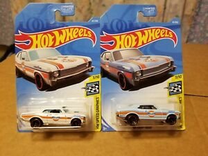 Hotwheels ' 68 CHEVY NOVAS ( GULFS NOVA'S LOT OF 2 )