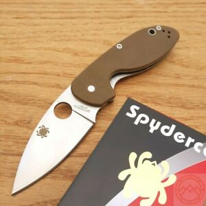 Spyderco Efficient Folding Knife 3quot; 8Cr13MoV Stainless Steel Blade G10 Handle