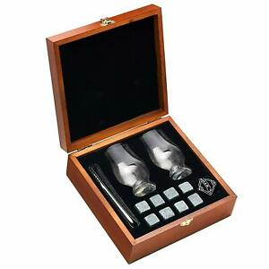Cool Stones Whiskey Stones and Whiskey Glass Gift Boxed Set