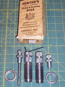 Herters 7mm Remington Magnum Full Length FL 2-Die Set in Original Box