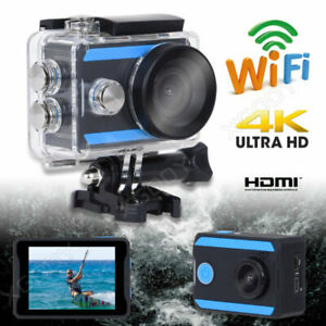 Black Mini 2'' Ultra HD 4K Helmet Action Sports Camera Camcorder Waterproof DV