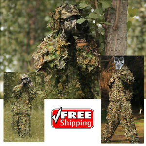 Hunting clothes New 3D maple leaf Bionic Ghillie Suit Camouflag sniper birdwatch