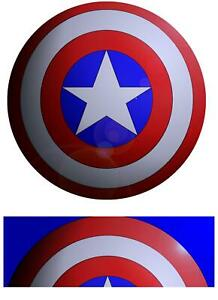 Icing Cake Topper Captain America Birthday Large 9, 10, 12