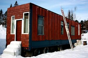 Tiny Mobile House Trailer Hunting Camp 45' long 9' ceilings SUPER INSULATION