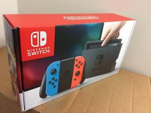 NEW Nintendo Switch 32GB Gray Console Neon Red Neon Blue Joy-Con *NEXT DAY AIR*