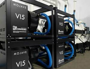 New Air Techniques Four V15 Dry Vacuum Pumps One CT12 And One CT34 Tank For 60