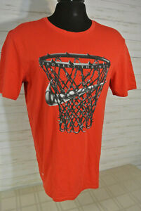 NIKE Dri Fit PROTECT THE NET Large Men Basketball Red Cotton Poly T Shirt nba $11.99