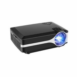 Projector Upgraded +10% Lumens 800x480 Native Resolution LED Video Support 1080P