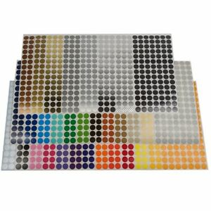 Color Coding Dot Labels, 1/4 inch Round Stickers, 105 pack, Indoor/Outdoor Vinyl
