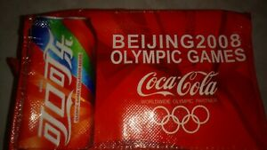 MUST SEE 2008 Beijing Olympics 5 COKES  and T-shirt. All UNOPENED RARE,RARE,RARE