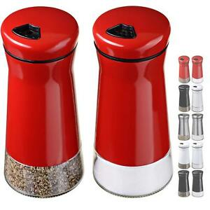 Salt and Pepper Shakers Set Adjustable Holes Multicolor For kitchen acsessories