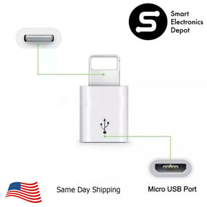 Android Micro USB Adapter to Lightning Connector for Apple iPhone Devices 8 Pin