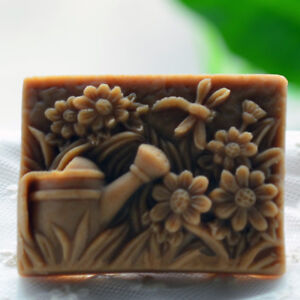 Flower Soap Molds Handcrafted Silicone Soap Mold Rectangle Candle Resin Wax Mold