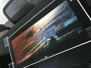 Star Wars Art Print Steady Approach X-Wing Canvas Juan Vidales #495 Giclee acme
