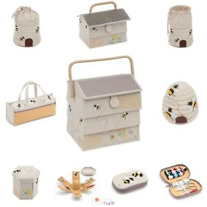 Sewing Knitting Storage Bee Bee Hive Beehive Matching Sets GBP 12.95