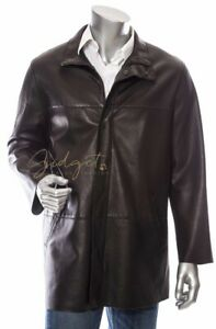 Armani Collezioni Italy Men's Size XL Black Lambs Leather Jacket