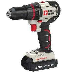 Porter Cable PCC608LB 20 Volt Max Lithium Ion Cordless Compact Brushless Drill $99.00