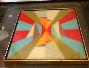 LEE PEARLSON Signed Op Art Painting Contemporary of NORMAN ZAMMITT California