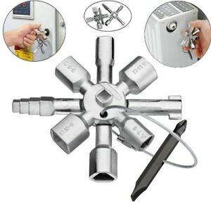10 in 1 Multifunction Cross Switch Plumber Key Wrench Universal Square Triangle