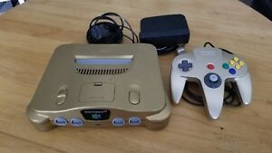 Nintendo 64 Gold Console (NTSC) Tested Free shipping