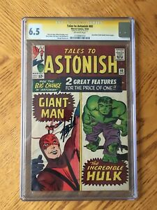 Tales to Astonish #60 Signed by Stan Lee. Hulk Double Feature Begins 6.5 FN+ CGC