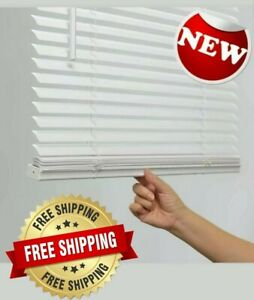 1 in Cordless White Vinyl Light Filtering Mini Blinds multiple sizes