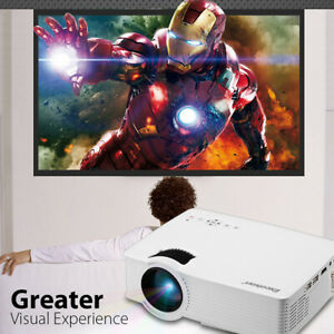 3D FHD 1080P 7000 Lumens LED Projector Multimedia Home Theater HDMI Multiscreen
