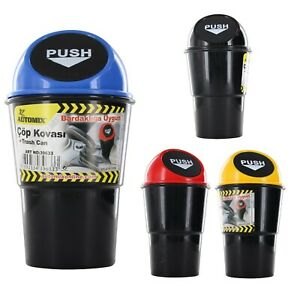 Set of 2X Car Trash Garbage Mini Can Holder Ashtray Case for Car's Cup holder