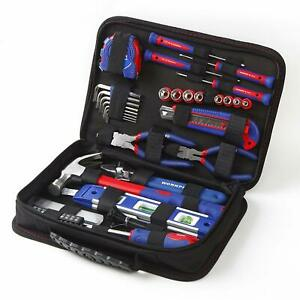 Drawer Tool Kit 100 Piece With Easy Carrying Pouch 13 Exterior Pockets NEW HQ