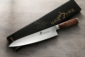 ZHEN Japanese VG-10 3 Layers forged Steel Gyuto Chef Meat Cutting Knife