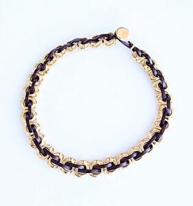 "NWT Uno de 50 Gold-Plated Leather Necklace ""Passion"