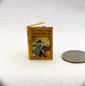 EASY SEWING Readable Miniature Book Dollhouse Book 1:12 Scale 1quot; Scale Book $7.47