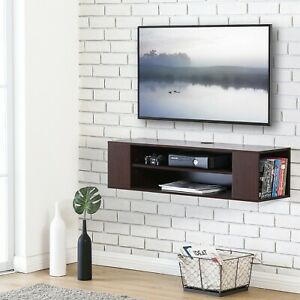 FITUEYES Wall Mounted Floating TV Stand Media ConsoleComponent Shelf