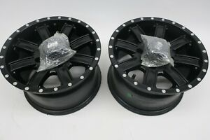 TWO - 4110 Tusk Cascade Wheels 12x7 5.0 + 2.0 Matte Black - 185-276-0001