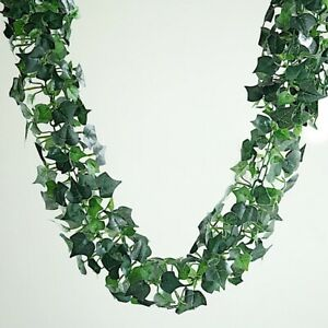 GREEN IVY 6 ft 3D Chain Silk Leaves Garland Party Wedding Event Decorations SALE