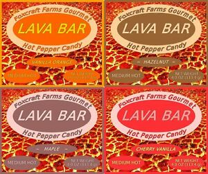 New Stock! Foxcraft Farms Gourmet Lava Bar Hot Pepper Candy, Free Shipping!