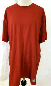 MENS NIKE PRO TIGHT FITTED Short SLEEVE TRAINING SHIRT DRI-FIT Maroon Red 3XL