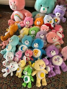 Care Bears Bear Cousins Plush LOT of 27 Plush  2 Big Size Different Ones