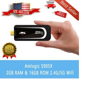 SALE Streaming TV Stick H96 Pro-H3 Android 7.1 Quad Core2GB+16GBDongle